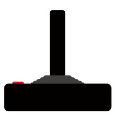 Side view of a videogame joystick vector