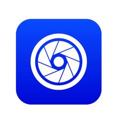 Small objective icon digital blue vector
