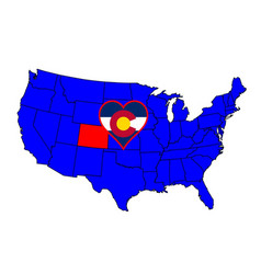State of colorado vector