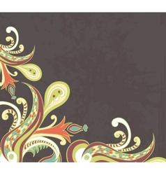 Stylised flowers on grunge background vector