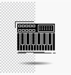 Synth keyboard midi synthesiser synthesizer glyph vector