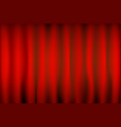 Theater red curtain with spot lighting vector