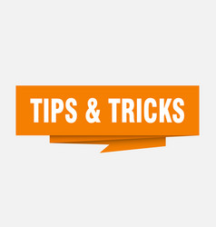 Tips tricks vector