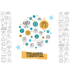 travel and transportation concept vector image
