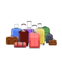 Travel bags and luggage color vector