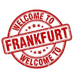 Welcome to frankfurt vector