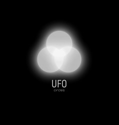 White glowing circles of regular shape in the sky vector