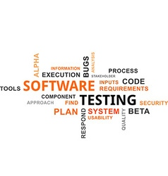 Word cloud software testing vector