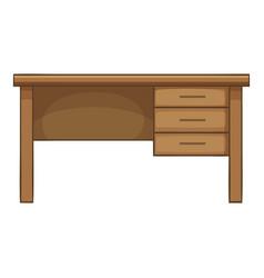 Writing table icon cartoon style vector