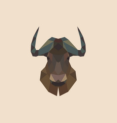 Geometric head of a bison vector