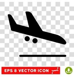 Aiplane Landing Eps Icon vector image