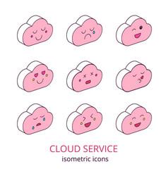 cloud service 2 vector image vector image