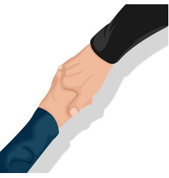 corporate business handshake top view vector image vector image