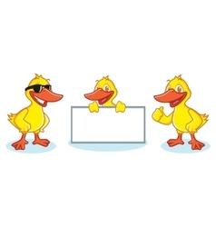 Duck Mascot happy vector image