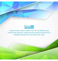 Green triangles and waves on white background vector
