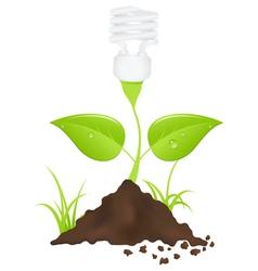 light bulb energy vector image vector image