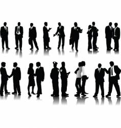 office people silhouettes vector image