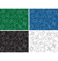 Chemistry background - seamless pattern molecule m vector image vector image