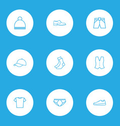 garment outline icons set collection of briefs vector image