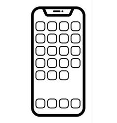 modern smartphone linear vector image