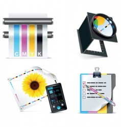 print shop icon set vector image vector image