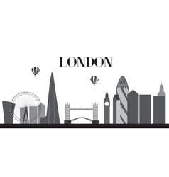 UK Silhouette London city background vector image