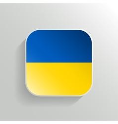 Button - Ukraine Flag Icon vector image