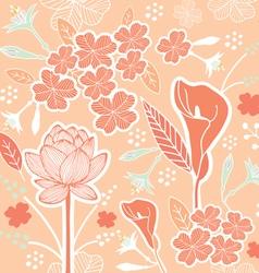 flower pattern set 1C vector image vector image