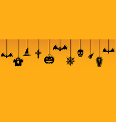halloween hanging ornaments with shadow vector image vector image