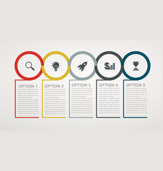 infographic design template with 5 step structure vector image vector image