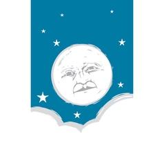 Moon Face vector image