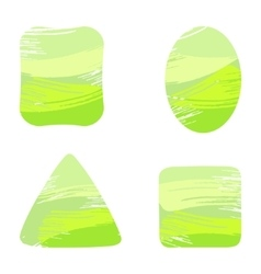 Paint strokes shapes vector
