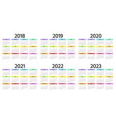 2019 calendar year template planner vector