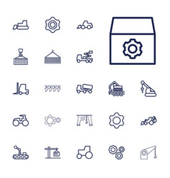 22 machinery icons vector