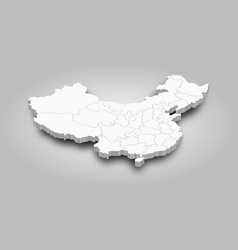 3d map china and province with shadow vector