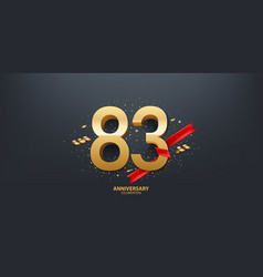 83rd year anniversary background vector