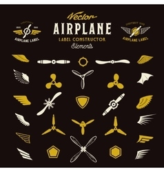 Abstract Airplane Labels or Logos vector image
