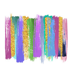 Abstract watercolor brush strokes isolated on vector