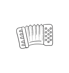 Accordion sketch icon vector