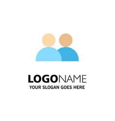 Add contact user twitter business logo template vector