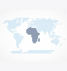 africa continent on the world map vector image