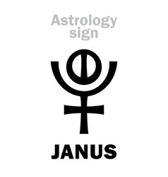 Astrology planet janus vector
