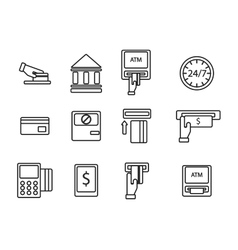 ATM icons set vector image