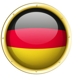 Badge design for germany flag vector