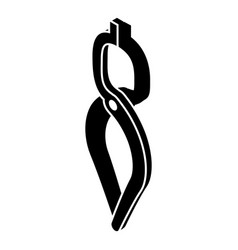 Blacksmith tong icon simple black style vector