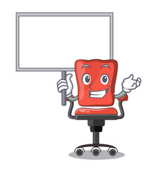 Bring board character office desk chair in indoor vector
