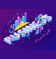 business analytics isometric composition vector image