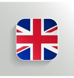 Button - United Kingdom Flag Icon vector image