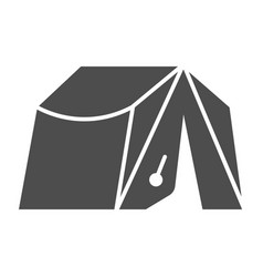 Camping tent solid icon tourism vector