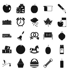 Care icons set simple style vector